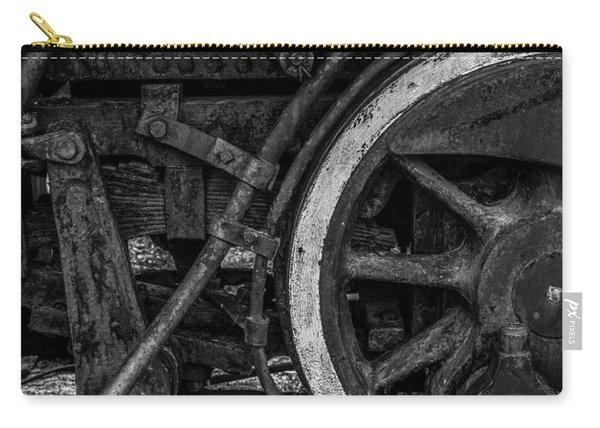 Steel Wheels In Monochrome Carry-all Pouch
