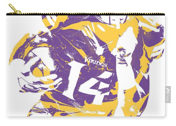 Stefon Diggs Minnesota Vikings Pixel Art 2 Carry-all Pouch
