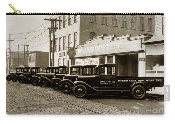 Stegmaier Brothers Inc Beer Trucks At 693 Hazle Ave Wilkes Barre Pa 1930s Carry-all Pouch