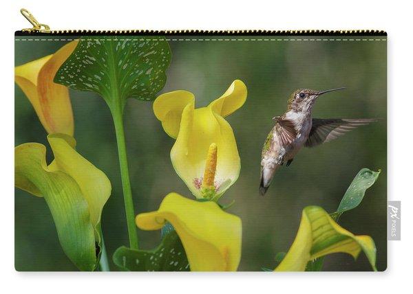 Stem To Sky A Hummingbird Flies Carry-all Pouch
