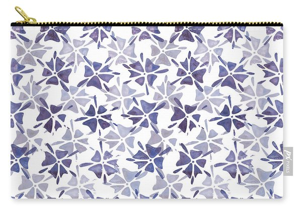 Stencilled Floral Carry-all Pouch