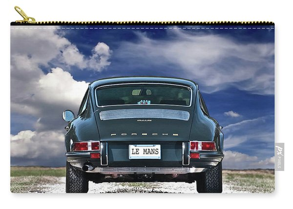 Steve Mcqueen's 1970 Porsche 911s From Opening Scene Of The Movie, Le Mans Carry-all Pouch