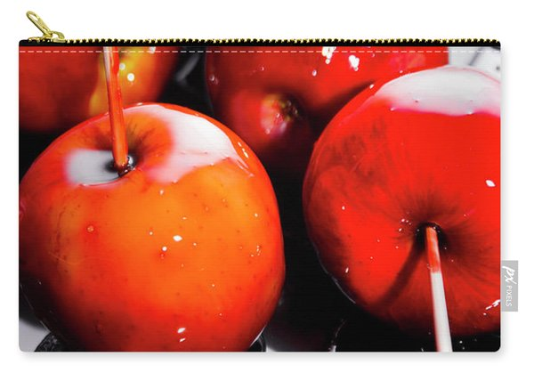 Sticky Red Toffee Apple Childhood Treat Carry-all Pouch