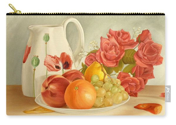 Carry-all Pouch featuring the painting Still Life by Angeles M Pomata