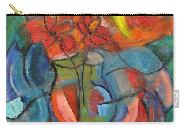 Still Life-flowers With Fruit Carry-all Pouch