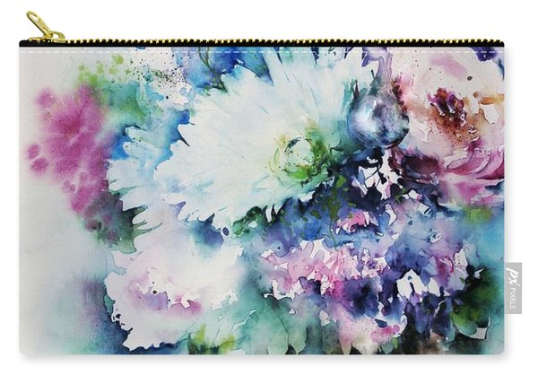 Still Life Rose Bouquet Watercolour Carry-all Pouch