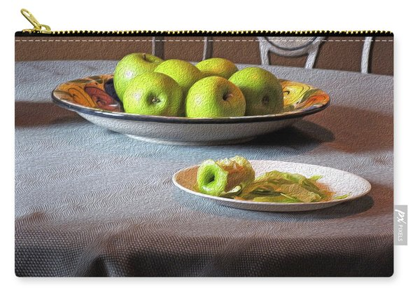 Still Life With Apples And Chair Carry-all Pouch