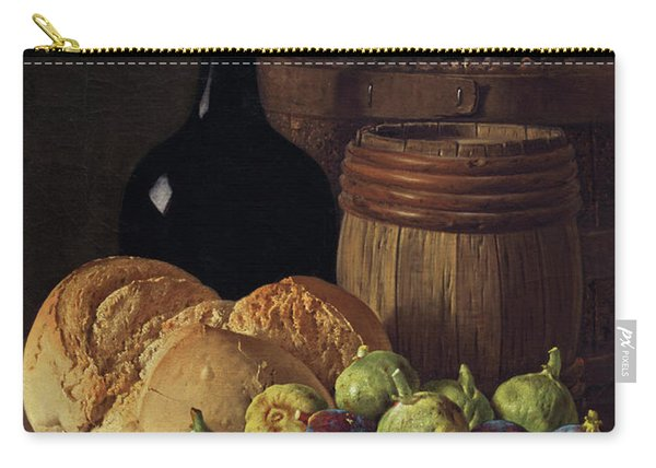 Still Life With Figs And Bread Carry-all Pouch