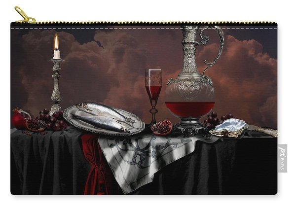 Still Life With Red Wine Carry-all Pouch