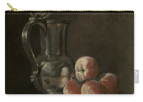 Still Life With Tin Pitcher And Peaches  Carry-all Pouch