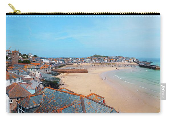 Carry-all Pouch featuring the photograph St.ives Panorama, Cornwall by Ariadna De Raadt