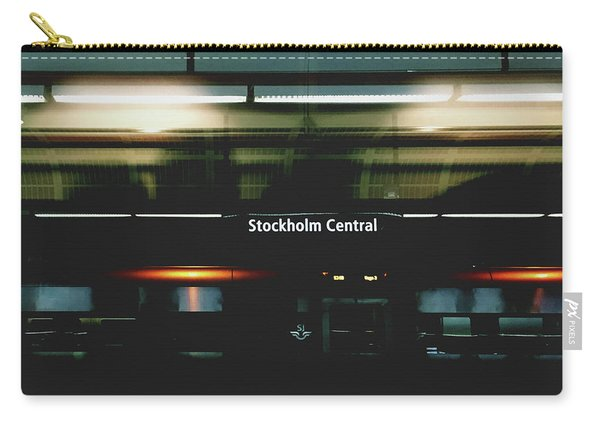 Stockholm Central- Photograph By Linda Woods Carry-all Pouch