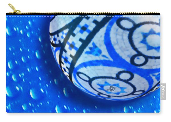 Stone And Water Orb Abstract Crop Carry-all Pouch