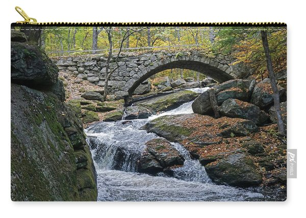 Stone Arch Bridge In Autumn Carry-all Pouch