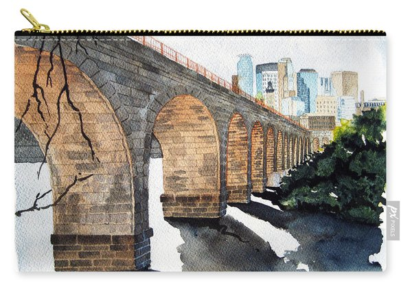 Stone Arch Bridge Watercolor Carry-all Pouch