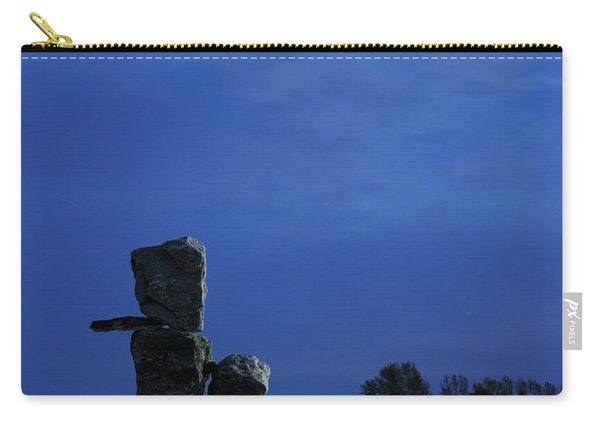 Stone Figure In Moonlight Carry-all Pouch
