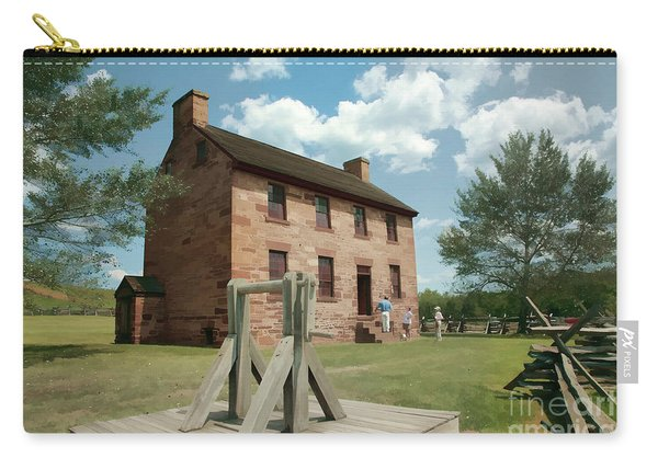 Stone House At Manassas With Digital Effects Carry-all Pouch