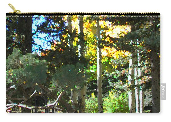 Carry-all Pouch featuring the digital art Stone Park Trails by Deleas Kilgore