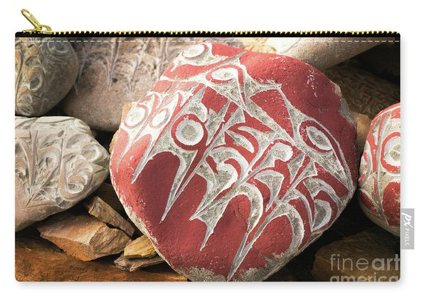 Stone With Tibetian Mantras Tibet Yantra.lv Carry-all Pouch