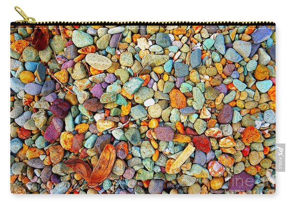 Stones And Barks On Beach Carry-all Pouch