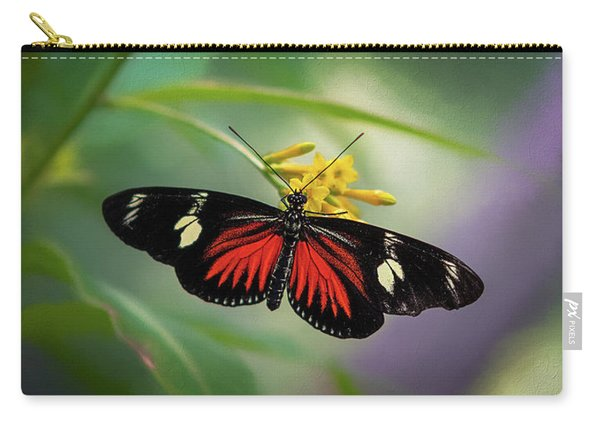 Butterfly, Stop And Smell The Flowers Carry-all Pouch