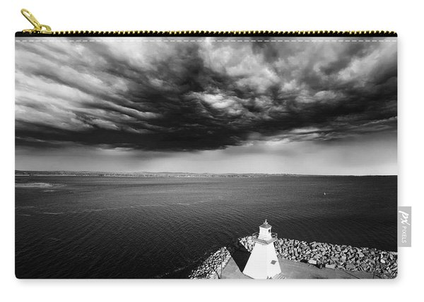 Storm Clouds Over A Lighthouse  Carry-all Pouch