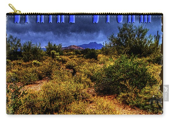 Storm Clouds Over The Sonoran Desert In Spring Carry-all Pouch