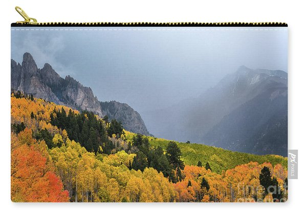 Carry-all Pouch featuring the photograph Storm On Million Dollar Highway by Susan Warren