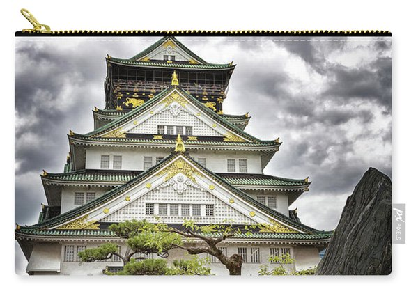 Storm Over Osaka Castle Carry-all Pouch