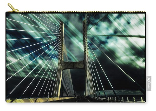 Storm Over The Bridge  Carry-all Pouch