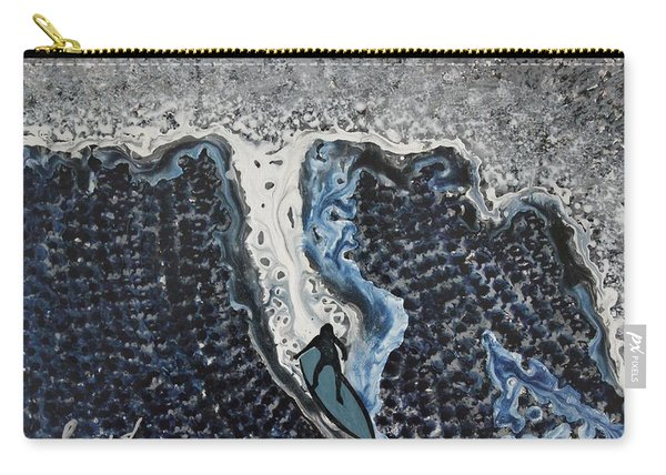 Storm Surfer Original Painting Sold Carry-all Pouch
