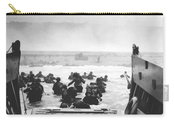Storming The Beach On D-day  Carry-all Pouch