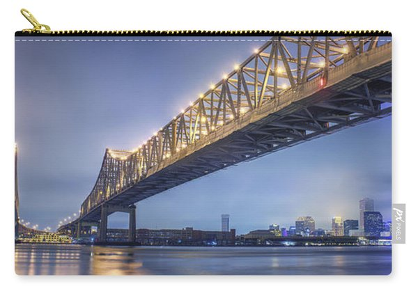 Storms Over The Crescent City Connection Carry-all Pouch