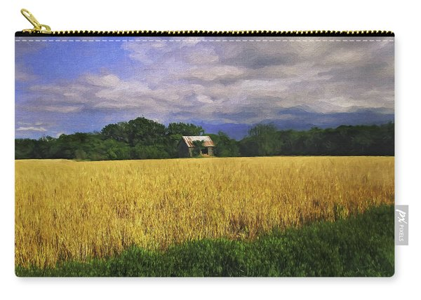 Stormy Old Barn In Wheat Field 2 Carry-all Pouch