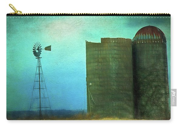 Stormy Old Silos And Windmill Carry-all Pouch