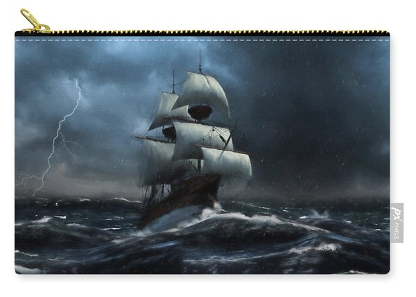 Stormy Seas - Nautical Art Carry-all Pouch