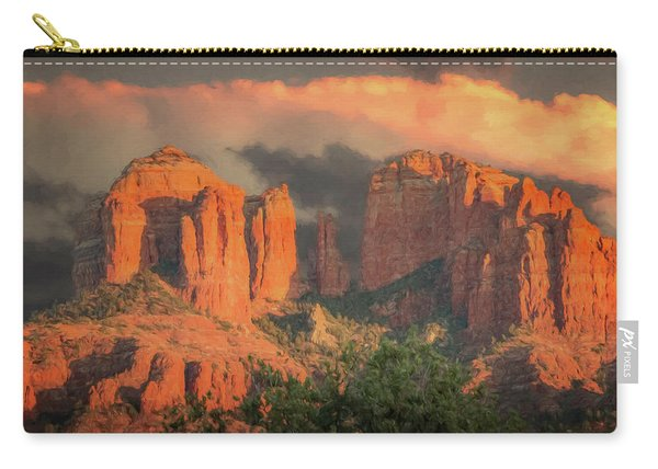 Stormy Sedona Sunset Carry-all Pouch