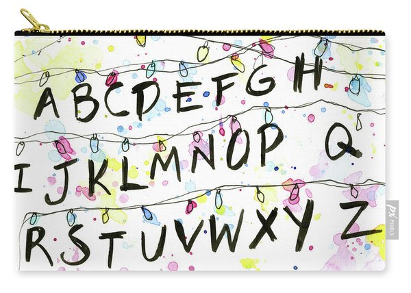 Stranger Things Alphabet Wall Christmas Lights Carry-all Pouch