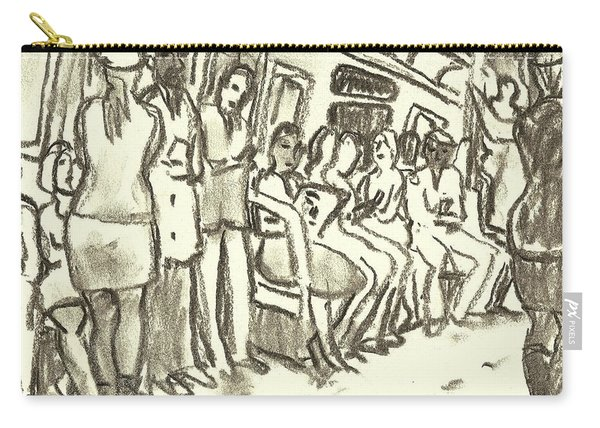 Strap Hangers, Nyc Subway Carry-all Pouch