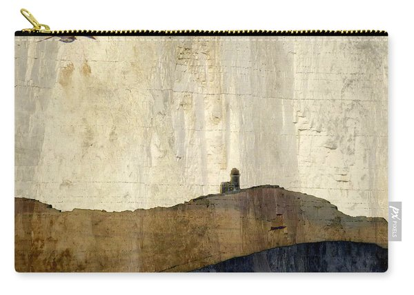 Strata With Lighthouse And Gull Carry-all Pouch