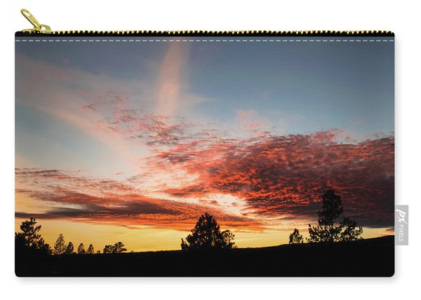 Carry-all Pouch featuring the photograph Stratocumulus Sunset by Jason Coward