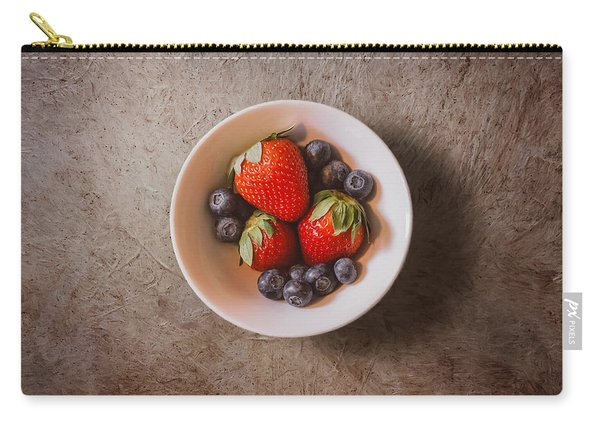 Strawberries And Blueberries Carry-all Pouch