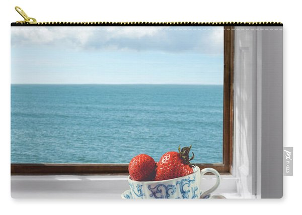 Strawberries By The Sea Carry-all Pouch