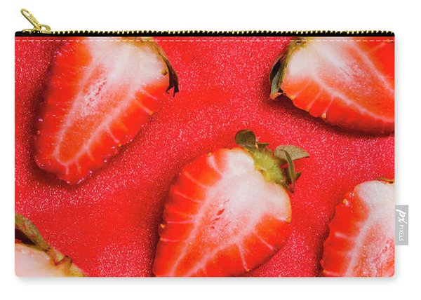 Strawberry Slice Food Still Life Carry-all Pouch
