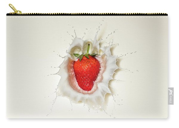 Strawberry Splash In Milk Carry-all Pouch