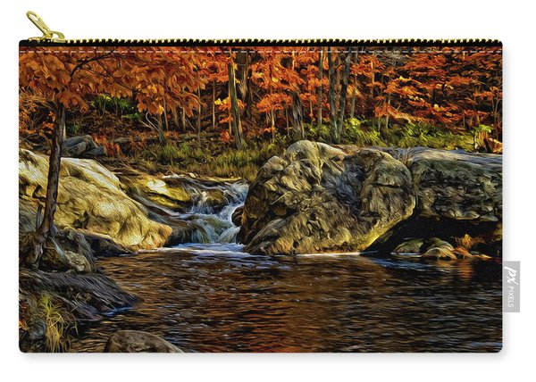 Stream In Autumn 57 In Oil Carry-all Pouch