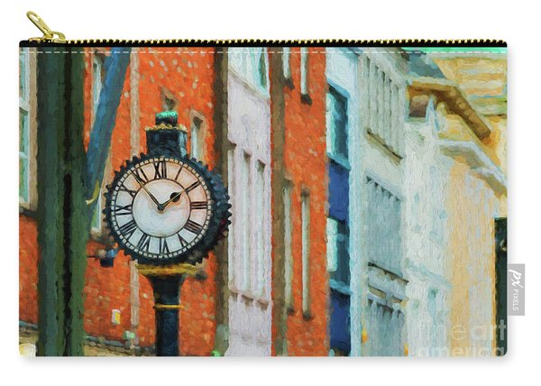Street Clock In Cork Carry-all Pouch