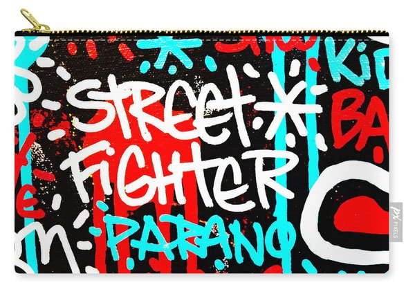 Street Fighter In Paris Carry-all Pouch