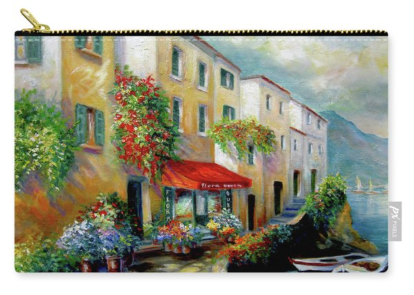 Street In Italy By The Sea Carry-all Pouch