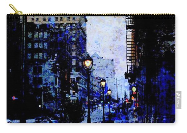 Street Lamps Sidewalk Abstract Carry-all Pouch